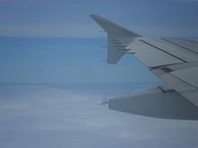 A593航空路 位置通報点GOMAR上空