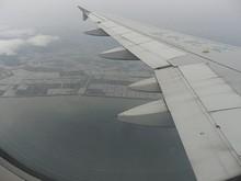 鹿島市の沖を北東へ飛ぶ