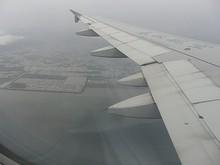 佐賀市の沖を北東へ飛ぶ