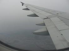 佐賀空港上空で右旋回