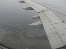 佐賀空港の東を流れる早津江川の河口