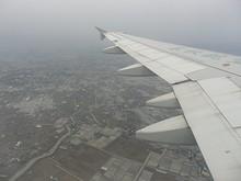 柳川市上空