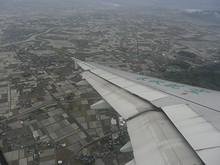 みやま市上空で左旋回