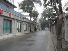 南京時光国際ユースホステル前の通り