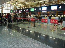 深圳航空のチェックインカウンター