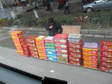 路上の果物売り