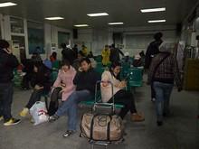 バスターミナルの待合室