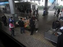 途中の柳州駅ホーム