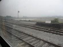 寧明駅に到着
