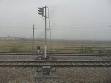 寧明駅を発車