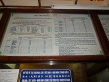 ドンダン駅の南寧行き国際列車案内(ベトナム語)