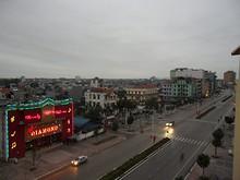 ホテルから見たモンカイの夕暮れ