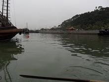 小舟で船溜まりを一周