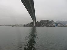 橋と対岸のホンザイ