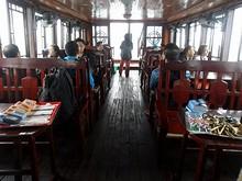 ボートの1階船室