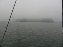 ダウゴ島に接近