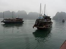 別のボートが接近