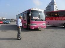 ハノイ行きバス