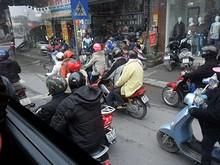 ベトナム名物、バイクの集団