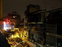 ホテルベランダからの夜景