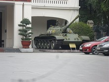戦車が置いてある