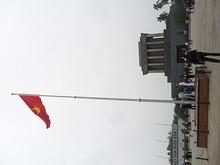 ホーチミン廟と金星紅旗