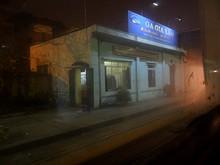 夜のザーラム駅