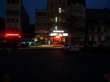 駅前の旅館街