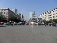 駅から北に延びる北京路
