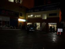墨江のバスターミナルで休憩