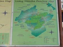 ルアンナムター県マップ