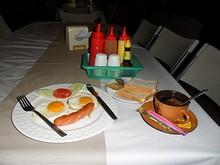 朝飯のアメリカン・ブレックファスト