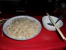 夕飯の豚肉炒飯