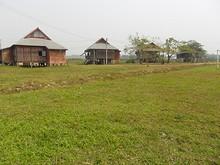 空港南側の集落