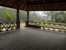 ナムター川ボート乗り場の小屋