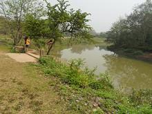ナムター川とボート乗り場