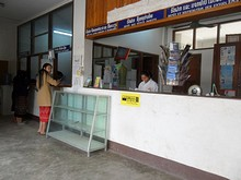 郵便局のカウンター