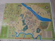 ホステルに貼ってあった、景洪の地図