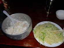 昼飯の青椒土豆絲