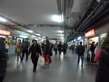 上海駅地下通路