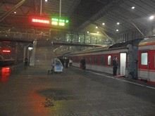 23:57。5時間かかって南京駅に到着