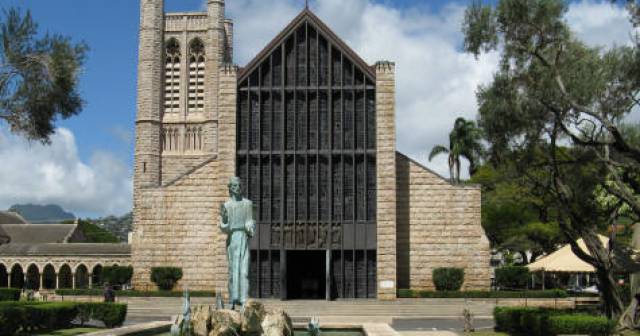 St. Andrew's Cathedral in Honolulu - Oahu Hawaii