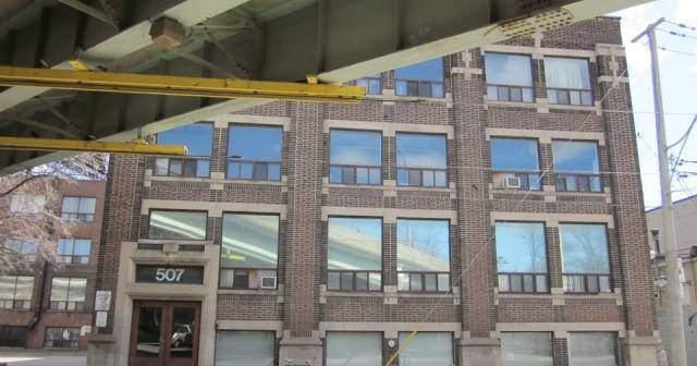 Lofts at 507 King Street East, from under the Richmond Street exit, in ...