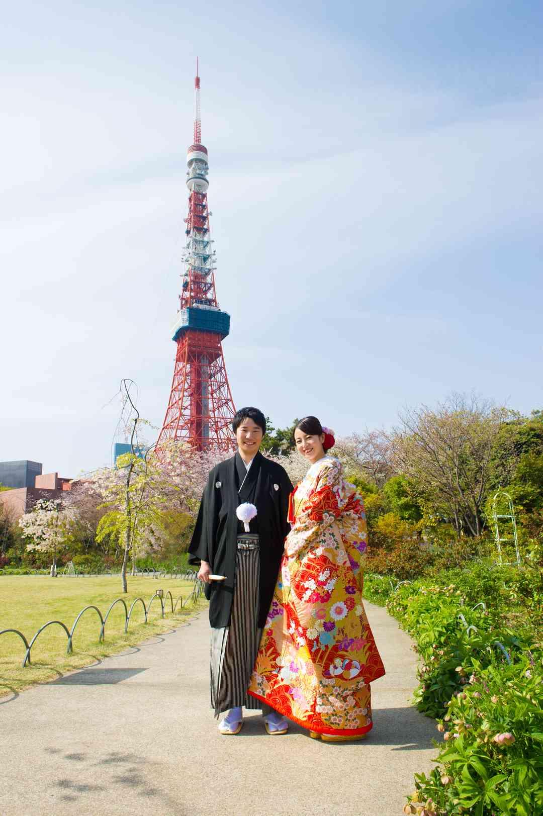東京タワーをバックに!(和装)