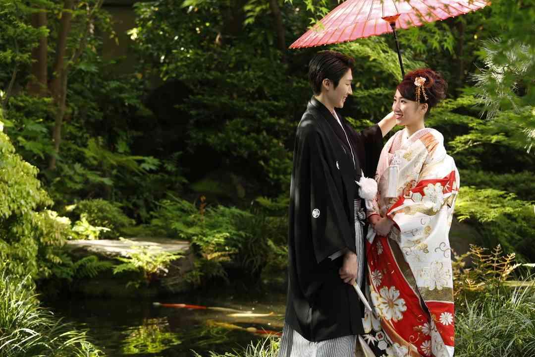 日本庭園での撮影が人気